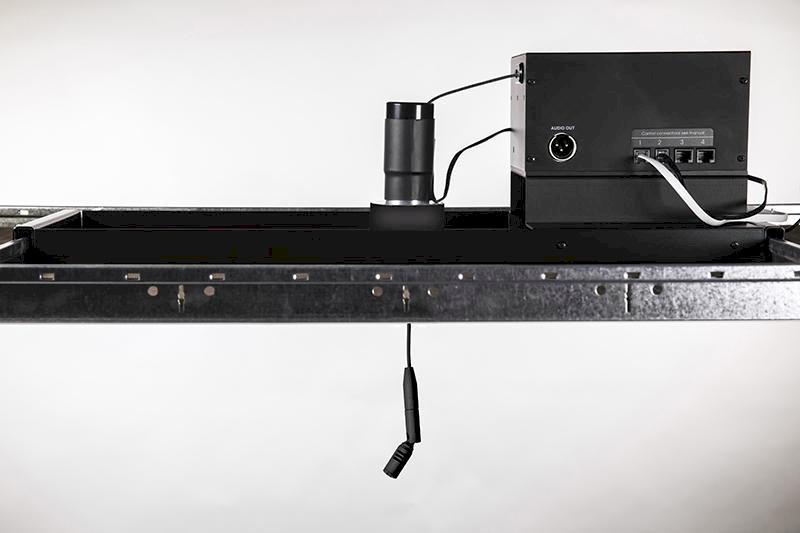 Microfono cardioide, motorizzato, soffitto(master)